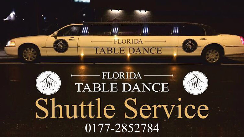 Shuttle Service Florida Tabledance Bar, Tel.: 0177-2852784